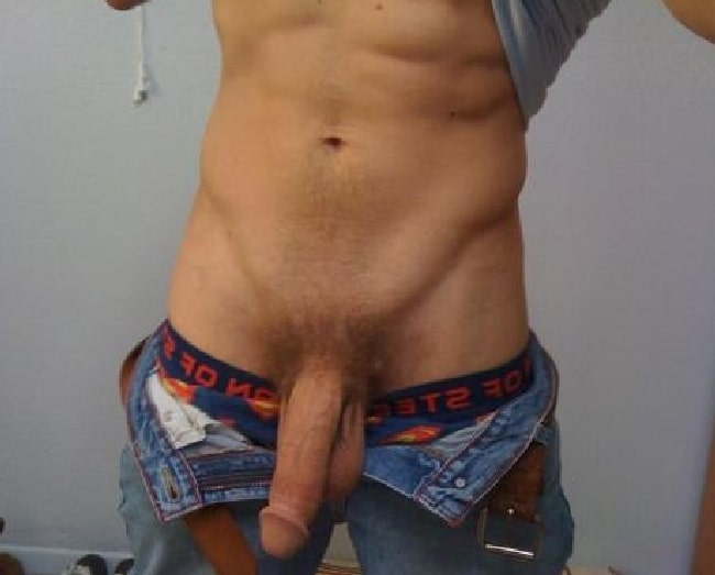 Muscle Man With His Big Cock Out