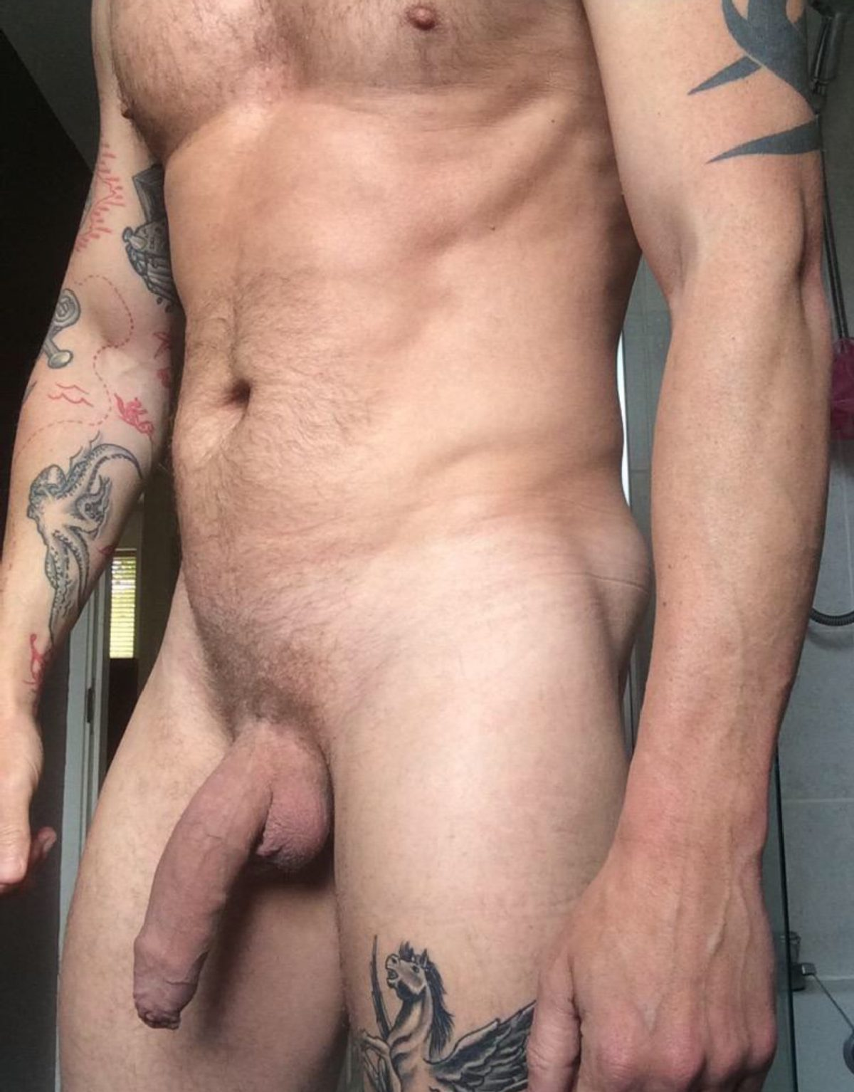 Nude Man With A Big Soft Uncut Cock