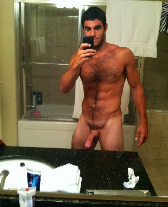 Hot Nude Man With A Long Hardon