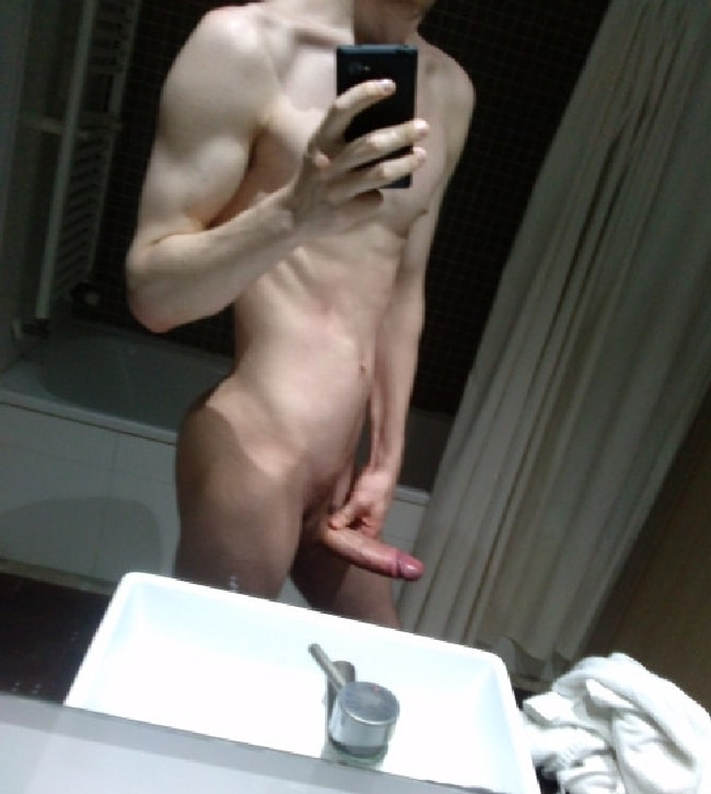 Nude Fit Twink With A Big Hardon