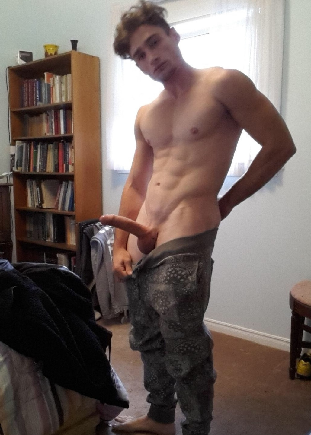 Nude Stud Showing His Big Hard Penis – Self Picture Boys